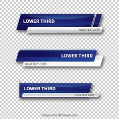 Set of abstract lower thirds Free Vector Layout Template, Templates, Lower Thirds, Best Banner, Background Design Vector, Creative Poster Design, 3d Studio, Motion Design, Banner Design