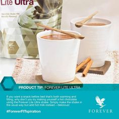 If you want a snack before bed that's both warming  filling, why don't you try making yourself a hot chocolate using the Forever Lite Ultra shake. Simply make the shake in the usual way but add hot milk instead – delicious!  #foreverlivingproducts #aloevera #infinityinspiredgp