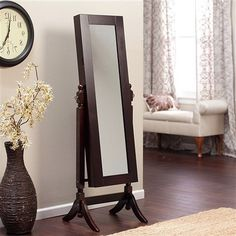 We have a handful of different styles of these jewelry armoire full length mirrors. Quite frankly I think it is a brilliant idea and I bed one!!!!! 👌🏻 #loluxe #loluxeshop #home #decor #homedecor #homeaccents #homeaccessories  #mirror #jewelryarmoire #jewelryorganizer #fulllengthmirror  http://loluxes.myshopify.com/collections/mirrors/products/jewelry-armoire-and-full-length-tilting-mirror-in-espresso-brown-wood-finish