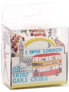 Accessorize I love London cupcake cases Jubilee Gardens, Accessorize Bags, Cupcake Cases, Cupcake Party, Printable Paper, Women's Accessories, Packaging Design, London, Kawaii Stuff