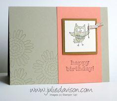 New Catalog Sneak Peek: So Very Happy Owl Birthday Card #stampinup www.juliedavison.com