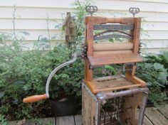 Antique Anchor Brand Clothes Wringer by LadyNinaNana on Etsy, $150.00