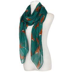 Lady Womens Spring New Casual Long Cute Fox Print Scarf foulard femme Wraps Shawl Soft Scarves Comfortable d4