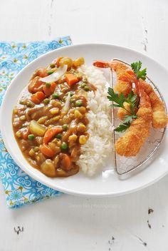 japanese curry & ebi fry by *steveH, via Flickr