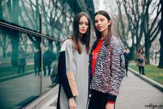 CHIARA CORRIDORI AND ANASTASIA CHEKRY, Milan fall 2017 – ModelsJam