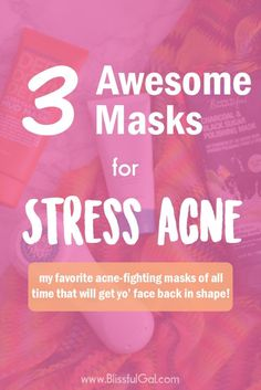 Best Face Masks for Stress Acne- When stress levels rise, sometimes so do pimples! With my Clarisonic and face masks, my skin is able to handle stress!