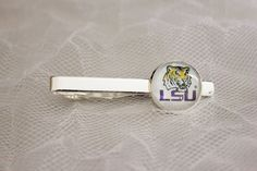 LSU Tigers Tie Clip Made From Football Trading Cards Upcycled #LSUTigers