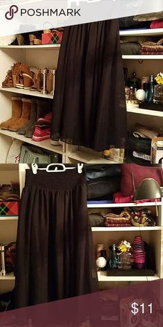 Flowy skirt Black flowy skirt ,Stretchy waist band.Guc George Skirts