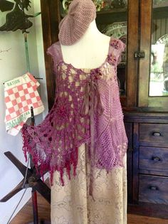 Luv Lucy Crochet Top Lucy's Purple Haze  by TheVintageRaven, $135.00