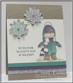 Christmas Cuties, Stampin' Up!, #stampinup, Flurry of Wishes, snow, created by Connie Babbert, www.inkspiredtreasures.com