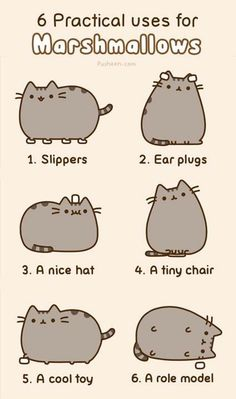 Pusheen! Marshmallows are for everything!