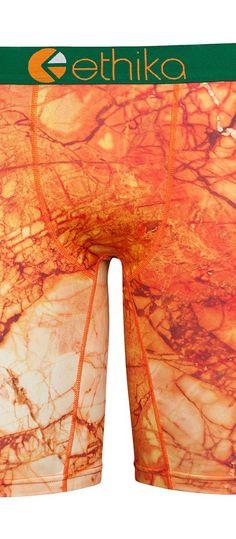 ethika The Staple Orange Marble (Orange) Men's Underwear - ethika, The Staple Orange Marble, UMS996-800, Apparel Bottom Underwear, Underwear, Bottom, Apparel, Clothes Clothing, Gift, - Fashion Ideas To Inspire