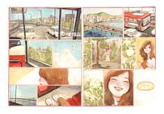 Comic Layout, West Side Story, Manga Comics, Watercolor Illustration, Storyboard, Cute Drawings, Comic Art, Mona Lisa, My Arts