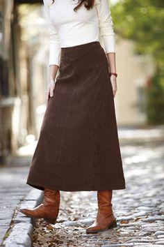 Long Moleskin Skirt