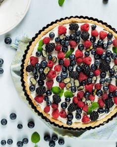 Tasty wild berries tart
