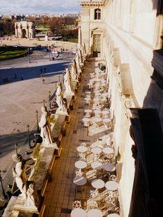 Cafe terrace of Louvre, Paris