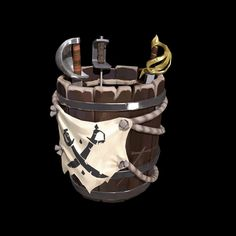 Rare's Sea of Thieves Gets Tons of Screenshots and Art: Ships, Weapons, Weather, Characters and Sea Of Thieves, Game Props, Pirate Life, Game Art, Video Game, Ships, Year 2, Low Poly, Games