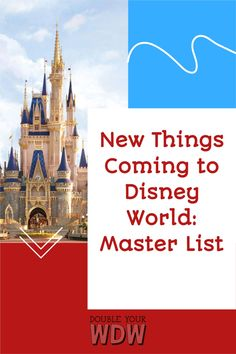 This is a constantly updated list of ALL new things coming to the Disney World parks. This list includes all new rides, restaurants, shows, resorts, and more. Find out when and what is coming to the parks #disney #disneyworld #newthingscomingtodisney #waltdisneyworld #disneyplanning #waltdisneyworldplanning #disneyparks #disneyworldparks #disneyplanning #disneyvacation #disneyworldvacation #vacation #vacationplanning