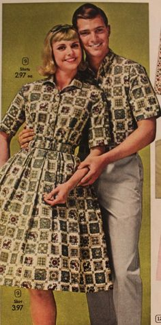 Vintage Matching Couples Outfits -1960s