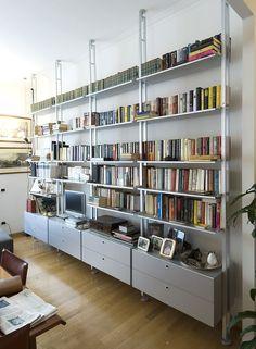 Scaffale bifacciale componibile in alluminio K2 | Libreria - KRIPTONITE