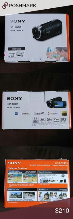 Sony Handycam HDR-CX405 New! Never taken out of box.  For more info on the camera please visit  http://www.sony.com/electronics/handycam-camcorders/hdr-cx405 Sony Other