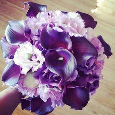 Silk floral bouquet | faux wedding flowers | purple bouquet | http://www.afloral.com/Wedding-Design-Ideas/Wedding-Bouquet-Design-Ideas