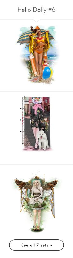 """""""Hello Dolly #6"""" by ellen-hilart ❤ liked on Polyvore featuring art, doll, angel, dollset, steampunk and artset"""