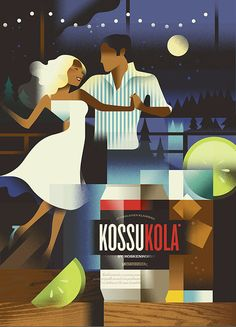 Koskenkorva on Behance | Poster advertisement for the Finnish beverage brand Koskenkorva.