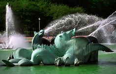 Chicago Art, Chicago Travel, Chicago Photography, Travel Photography, Buckingham Fountain, River Walk, Seahorses, In The Heights, Garden Sculpture