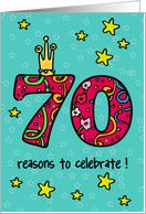 70th birthday clip art | 70th birthday card - Product #50928