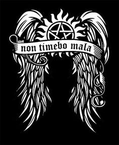 non timebo mala (I will fear no evil) Supernatural Tshirt by HLstore on Etsy, $15.00