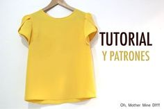 DIY Costura Blusa manga amapola para mujer (patrones gratis) - Oh, Mother Mine DIY! Sewing Shirts, Sewing Clothes, Diy Clothes, Blouse Patterns, Clothing Patterns, Sewing Patterns, Trendy Dresses, Nice Dresses, Diy Vetement