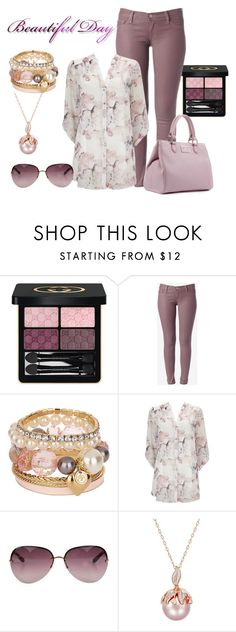 """"""":)"""" by grateful-angel ❤ liked on Polyvore featuring Gucci, Hudson Jeans, River Island, Wallis, Marc by Marc Jacobs and Lulu Guinness"""