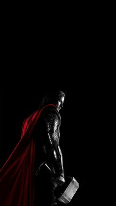 Thor In His Original Outfit Nerdy Wallpaper Black Backgrounds Marvel Cinematic