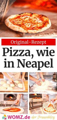 Make original Italian pizza yourself - WOMZ, Bento Recipes, Pizza Recipes, Vegetarian Recipes, Pizzeria, Pizza Restaurant, No Yeast Pizza Dough, Deep Dish Pizza Recipe, Sauce Pizza, Pizza Casserole