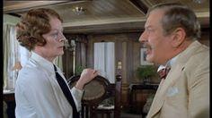 """Maggie Smith y Peter Ustinoven """"Muerte en el Nilo"""" - direc. de John Guillermin - 1978 -"""