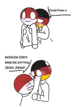 ask i dare albo coś w tym stylu Germany Poland, Country Art, Disney Memes, Dares, Hetalia, Wattpad, Fandoms, Humor, Anime