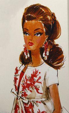 Palm Beach Coral Barbie Box Artwork