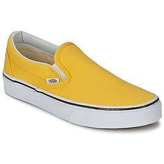 Slips+on+Vans+CLASSIC+SLIP-ON+Jaune+/+Blanc+45.49+€