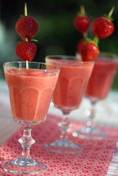 Smoothie - a great snack Margarita, Paleo, Pudding, Nutrition, Frisk, Snacks, Vegan, Make It Yourself, Tableware