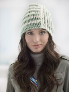 Loom Knit Two Stripe Hat - Free Pattern