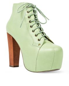 This is pretty much the best thing to ever happen to shoes. Own this Leather Lita Ankle Boots Mint by Jeffrey Campbell. This is a time-honoured-tradition shoe to grace your wardrobe with serious style. You call yourself a shoe lover? Not until you\'ve got a pair of these babies on your feet. The heel height measures 13 cm and features a leather upper and lining, man made sole. Pair with jeans and you\'re fashion-ready. Jeffrey Campbell, Winter Boots, Leather Men, Peep Toe, Ankle Boots, Mint, Pairs, Jeans, Pretty