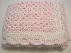 Crochet Baby Blanket Newborn Baby Girl Pink by AfghansForBabies