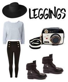 """""""City livin'"""" by rvrule on Polyvore featuring Gaëlle Bonheur, Betsey Johnson, Dorfman Pacific, Leggings and WardrobeStaples"""