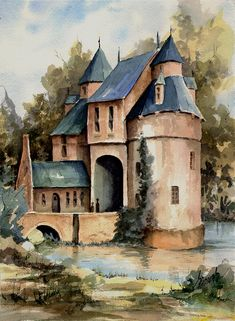 Secluded Castle Painting by Sam Sidders - Secluded Castle Fine Art Prints and Posters for Sale