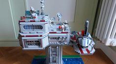 Lego Star Wars Tower Base on Kashyyyk Star Wars Set, Star Wars Clone Wars, Lego Star Wars, Lego Creative, Lego Clones, Lego Display, Lego Army, Amazing Lego Creations, Lego Spaceship