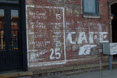 Arkansas, Fort Smith, Cafe. Saw it. Didn't eat there.