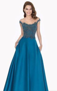 Beaded Long Gown by Tarik Ediz 92702