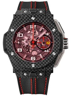 Hublot Big Bang Ferrari Red Magic Carbon Watch Baselworld 2013 Preview: Hublot Big Bang Ferrari Watches