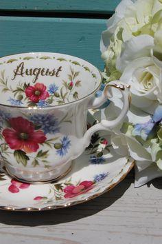 ROYAL ALBERT Flower of the Month August Poppy by HoneyandBumble, $21.00